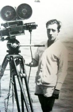 Buster behind the camera of the movie college