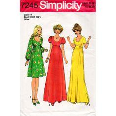1970s Empire Waist Boho Dress Mid Length or Maxi by BessieAndMaive, $12.00