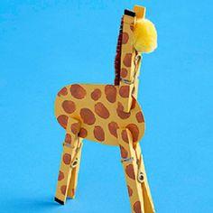giraffe craft :) add googlie eyes for the letter G