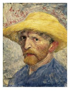 Van Gogh - Mystery with Straw Hat. Any painting by Vincent Van Gogh is a mystery. But the fate of one of his self-portrait is truly incredible. Vincent Van Gogh, Van Gogh Drawings, Van Gogh Paintings, Art Van, Van Gogh Zeichnungen, Van Gogh Arte, Van Gogh Self Portrait, Oil Painting Reproductions, Grisaille