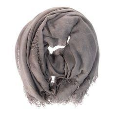 Faliero Sarti Scarf Marialia Taupe Cashmere-silk-scarf ($400) ❤ liked on Polyvore