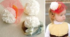 Awesome t-shirt pompoms.  I have a bunch of jersey material lying around, I should try these!