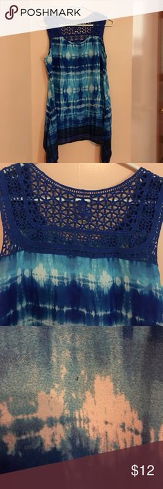 Blue top Cute blue tie dye top! Tops Blouses