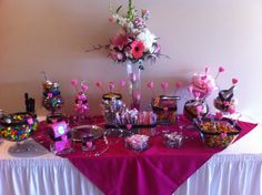 Sweet 15 Party Centerpiece Ideas | Jackie's Party Creations: Quincenera/ Sweet 15 Balloon + Candy Table ...
