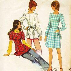 Square tunic neckline 70