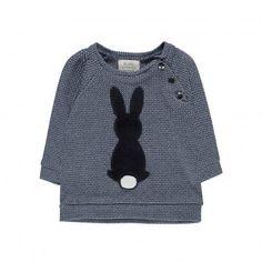 Lapin de Bon Poil Jacquard Sweatshirt Navy blue  Blune Kids