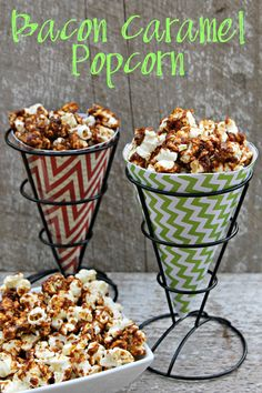 For your next party of family get together, serve them an appetizer they will remember like this Bacon Caramel Popcorn.