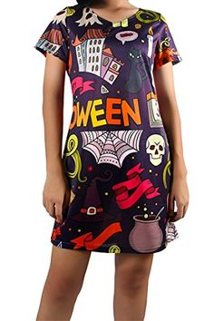 Pink Queen Womens Corpse Bride Queen Printed Tee Shirt Short Sleeve Casual Dress ** You can find more details by visiting the image link.