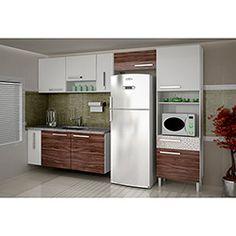 Cozinha Completa Palmeira Nobilis Kit 11 6 Peças Branco/Café