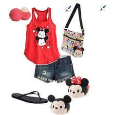 A fashion look from May 2015 featuring rag & bone/JEAN shorts and Reef flip flops. Browse and shop related looks. Disney Vans, Cute Disney, Disney Outfits, Disney Style, Disney Clothes, Fashion Line, Love Fashion, Tsumtsum, Disney Inspired Fashion