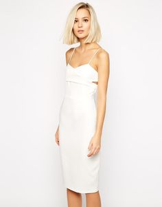Lavish Alice | Lavish Alice Crossover Body-Conscious Midi Dress at ASOS