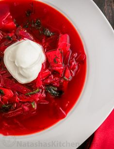 After several requests for my borscht recipe, here it is. Ukrainian Borscht…everyone knows what it is and many people enjoy it; Ukrainianor not. My sister taught me how to make it this way. It's a little time-consuming (atleast 2 hours). Click here for my speedier...