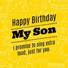 120 Birthday wishes for your Son - Lots of ways to say Happy happy birthday son - Birthdays Happy Birthday Son Images, Happy Birthday Son Wishes, Happy Birthday Quotes For Daughter, Happy Birthdays, Birthday Greetings, 21 Birthday, Birthday Funnies, Birthday Clips, Funny Birthday