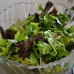 Salad of fresh greens from Friday's BFF lunch.