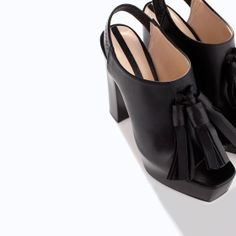 Image 4 of HIGH HEEL LEATHER ANKLE BOOT WITH TASSELS from Zara