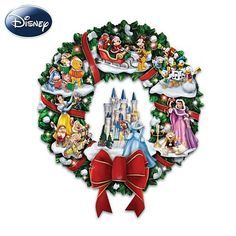 The Wonderful World Of Disney Character Christmas Wreath by The Bradford Exchange by Bradford Exchange. $125.00. Plays a medley of 8 beloved holiday songs. Lights up! Illuminated by 12 multi-colored LED lights, plus one inside of Cinderella's castle. Featuring more than 20 of your favorite Disney characters, this illuminated, musical Disney Christmas wreath brings Disney magic home for the holidays and is available from The Bradford Exchange. Skilled artisans met...