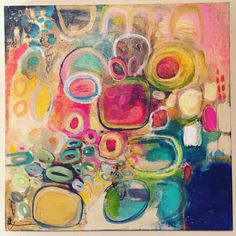 Lisa Baker Art Acrylic On Gallery Wrapped Canvas. 24 x 24.