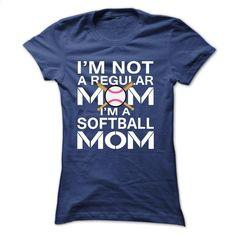 I'm NOT A REGULAR MOM, IM A SOFTBALL MOM T Shirt, Hoodie, Sweatshirts - tshirt design #shirt #T-Shirts
