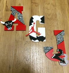 Air Jordan Themed Letters by AlilPersonality on Etsy