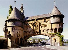 Traben-Trarbach. Art Nouveau buildings characterise the river front of the town, which prospered on the wine trade 