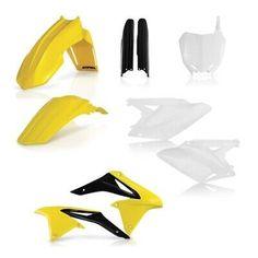 UFO Complete Plastic Kit Fits Fits Suzuki RMZ 250 2013 OEM STOCK COLOR