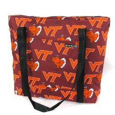 Virginia Tech Tote Bag Hokies Cotton with WATERPROOF LINING UNDERSIDE Travel Bags, for Gym or Beach Best Cute Unique GIFT IDEA for Him Her Man Men DAD MOM Mother Woman Women Ladies (Apparel)  http://www.99homedecors.com/decors.php?p=B001AVOY9G  B001AVOY9G