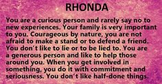 Image result for what does the name rhonda mean in the bible