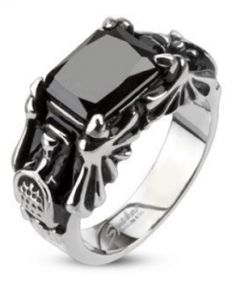 Black Onyx & Bat Wings Ring - FTGS