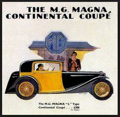 MG Magna Continental Coupe advertize
