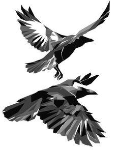 Crows  - Low Poly - Hiroki Suzuki