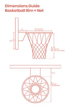Basketball rims are orange painted goals attached to the backboard in a game of basketball. Basketball rims have an inner diameter of Basketball Court Size, Basketball Rim, Backyard Basketball, Basketball Court Flooring, Basketball Backboard, Street Basketball, Basketball Shooting, Basketball Goals, Basketball Drills