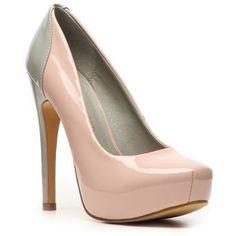 Elegant Gray 5 1/2&39&39 Heel 1 1/5&39&39 Platform Flannel Womens Heels