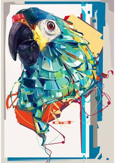 Military Macaw - This is a collection of unique artworks created by Denis Gonchar, a vector artist from Ukraine with a distinctive style.
