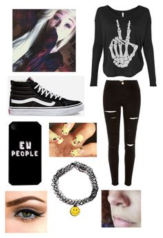 """""""Ew people"""" by yoitsmeg87 ❤ liked on Polyvore featuring River Island, Vans, women's clothing, women's fashion, women, female, woman, misses and juniors"""