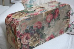 Vintage rose wallpaper suitcase | Flickr - Photo Sharing!