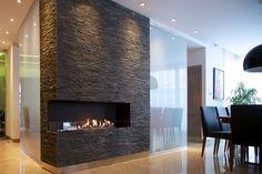 bio fireplace insert with electronic control - autoamtic fire denver e-Rbbon fire by decoflame, bio-fireplace, биокамин