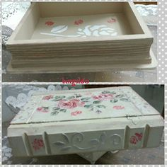 Wood painting.Ahşap boyama kitap kutum. Peçete dekopaj, rölyef pasta, stamp