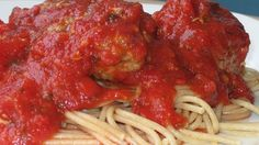 Tasty seasoned meatballs simmered in a flavorful red sauce.  For a creamier sauce,  substitute milk for the water.