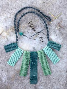 Macramè green necklace...Manufactus art...