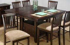 Superbe Bakeru0027s Cherry Finished Counter Height Table W/ Butterfly Leaf By Jofran.  $739.04. Style