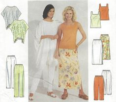 90s Plus Size Womens One Hour Skirt Pants Poncho & by CloesCloset