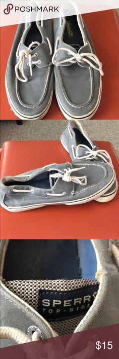 MENS SPERRY BOAT SHOES Great Used Condition.  Pet and Smoke Free.  Plenty of life left Sperry Top-Sider Shoes Boat Shoes