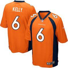 99d54779f Men s Nike Denver Broncos  6 Chad Kelly Game Orange Team Color NFL Jersey