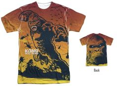 Kong Skull Island The Mighty Jungle - Adult & Youth in 12 Tee and Tank Styles