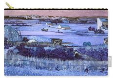 David Bridburg Carry-all Pouch featuring the digital art Inv Blend 18 Van Gogh by David Bridburg