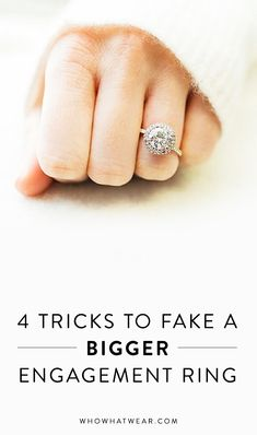 Proven tricks to make an engagement ring look bigger