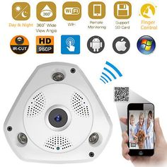 ﹩32.99. Panoramic VR WIFI Wireless Baby Monitor 3D 960P HD Network IP Camera IR-CUT