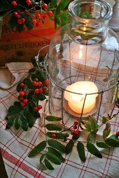 Red plaid, berries and greenery. Driving Home For Christmas, Christmas Past, Cozy Christmas, All Things Christmas, Christmas Holidays, Christmas Ideas, Xmas, Woodland Christmas, Primitive Christmas