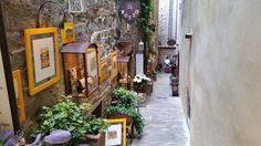many artistic little streets around the center of Cortona