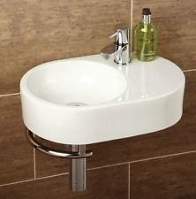 Hib Malo Range Saville Basin with Towel Rail Small & Compact Cloakroom Ensuite. Nice amount of space for liquid soap etc